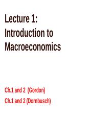 Lecture 1 Introduction to Macroeconomics(3)