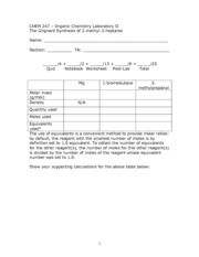 GrignardWorksheet