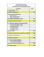 Estructura Del Estado De Resultado Integral Xlsx