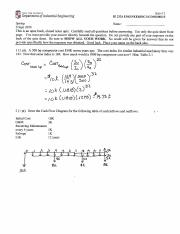 IE 2324 Quiz 2 Fall 2016 Answers