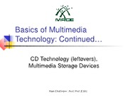Basics of Multimedia Technology-Contd