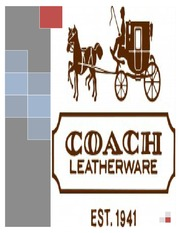 coach inc is its advantage in coach inc in 2012: its strategy in the accessible luxury goods market coach was founded in 1941 when miles cahn, a new york city leather artisan began producing leader handbags in 1981, coach was able to grow at a steady rate by setting prices about 50% lower than those of more luxurious brands, adding new models, and establishing.