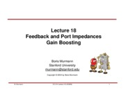 Lecture 18-Feedback and Port Impedances & Gain boosting