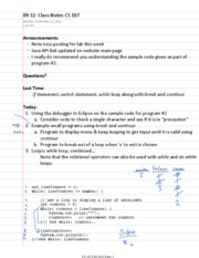 09-12  Class Notes CS 107