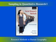 Sampling in Quantitative Research Part One