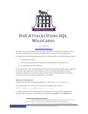 DoS_Attacks_Using_SQL_Wildcards