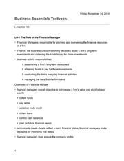Business Essentials Chapter 15