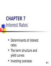6. Chapter 7 INTEREST RATE.ppt