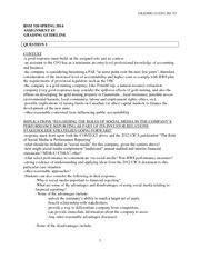 RSM320 Spring 2014 Assignment #3 GRADING GUIDELINE