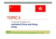 Topic 5a Financial System of China  HK (Abridged)