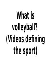What is volleyball