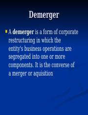 Demerger.ppt