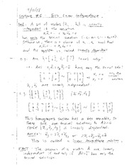 Lecture 6 on Linear Dependence and Independence of Vectors