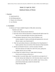 Mythical History of Rome