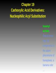 Chapter 19 Nucleophilic Acyl Substitution