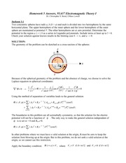 Homework E Solutions on Graduate Electromagnetics
