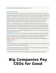 Big Companies Pay CEOs for Good Performance and Bad.docx