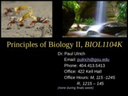 BIOL1104 - Fall 2015 - Lecture 1 - Introduction to 1104 the Scientific Process (2)