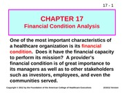 Financial Chapter 17