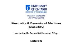 06 Kinematics and Dynamics of Machines Lecture #6