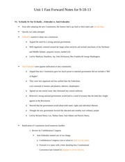 Unit 1 Fast Forward Notes Anti-federalism history