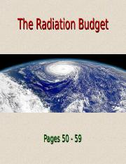 Lecture 5 - The Radiation Budget (1.27.15)