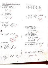 precalc factoring quiz