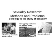 Outline Sex Research