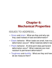 Chapter 6- Mechanical Properties