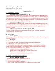 Earth Science Study Guide Topic 2,3 - Google Docs