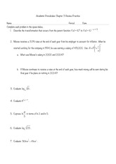 Exponential and Logarithmic Functions review
