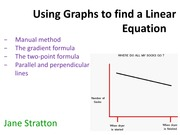 10A_Finding Linear Equations from Graphs