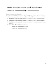 Practice Problem on Gene Expression Models