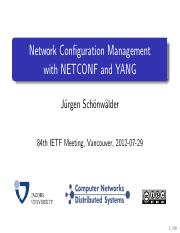 Chapter-4 (1) - Chapter 4 IoT System Management with NETCONF-YANG