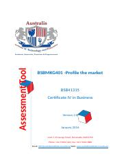 Assessments BSBMKG401 Profile the market (2).doc