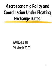 1.Macroeconomic Policy and Coordination Under Floating Exchange Rates.ppt