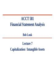 L7- Capitalization & Intangibles