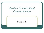 Barriers to Intercultural Communication