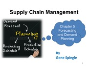 Chapter 5 Forecasting and Demand Planning