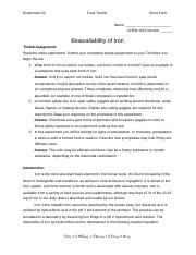 1315-02 Bioavailability of Iron lab answers