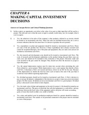 Chapter 6 MAKING CAPITAL INVESTMENT DECISIONS Textbook Solutions