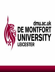 ACCOUNTING 2208 : performance measurement - De Montfort