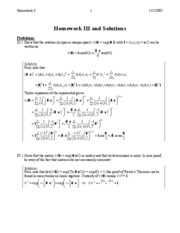 HW 3 problems/solutions
