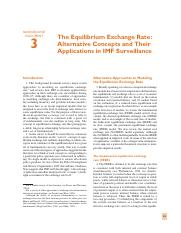 The Equilibrium Exchange Rates - Alternatice Concepts and their applications