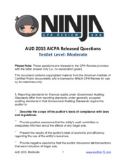 AICPA Released Questions AUD 2015 Moderate