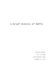 A Brief History of NAFTA