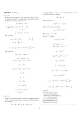 Homework 8 Solution Winter 2008 on Ordinary Differential Equations