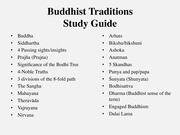 6-Buddhist Traditions