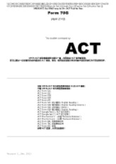 OPEN ACT Form 70G Apr 2012