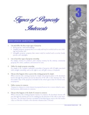 CHAPTER 3 TYPES OF PROPERTY INTERESTS